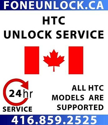 UNLOCK HTC CANADA within 6 hours - GUARANTEED!