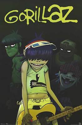 2006 CINDERBLOCK GORILLAZ MUSIC GROUP ANIMATED POSTER PRINT NEW 22x34 FREE SHIP