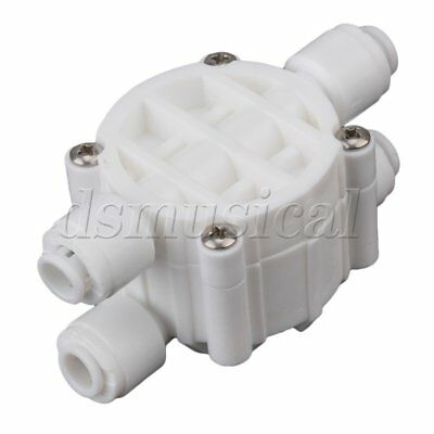"""4 Way RO Auto Shut-Off Valve Switch 1/4"""" Water Purifier Reverse Osmosis System"""