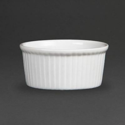 Pack of 12 Olympia Whiteware Ramekins 85mm Porcelain