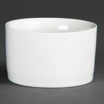 Pack of 12 Olympia Whiteware Contemporary Ramekins 80mm Porcelain