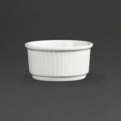 Pack of 12 Olympia Whiteware Stacking Ramekins 85mm Porcelain