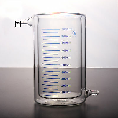 1000ml 1L Double Layer Interlayer Glass Beaker Photocatalytic Reactor by EXPRESS