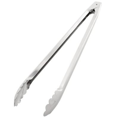 Vogue 16in Catering Tongs with Spring Loaded Mechanism Made of Stainless Steel