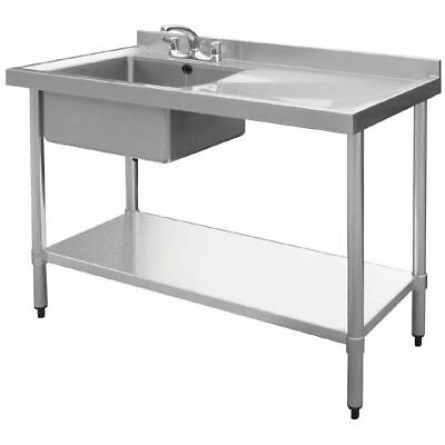 Vogue Stainless Steel Sink Left Hand Bowl 1000X 600mm Kitchen Right Drainer
