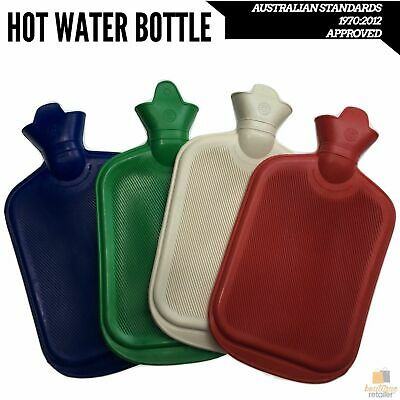 2L HOT WATER BOTTLE Winter Warm Rubber Bag Relaxing Warm Therapy Approved New