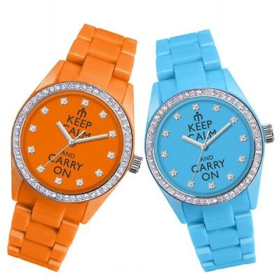 Orologio polso donna KEEP CALM CARRY ON Latuamoda by PIERRE BONNET strass DD3