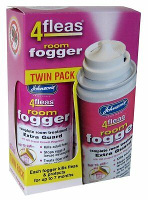 Johnsons 4 Fleas Fogger Twin Pack 2 Cans - Killer Bomb Household Fog Spray Az