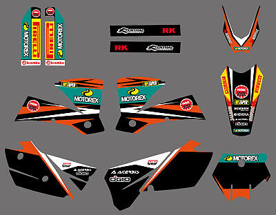 Team Graphics Backgrounds Decals For Ktm Sx 250/380 /400/520 2003 2004