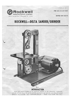 Delta Rockwell No. 31-350 - Sander/Grinder Instructions