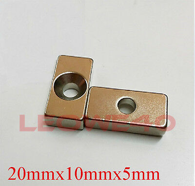 Strong Magnet 20mmx10mm with 4mm Hole Rare Earth Neodymium 743