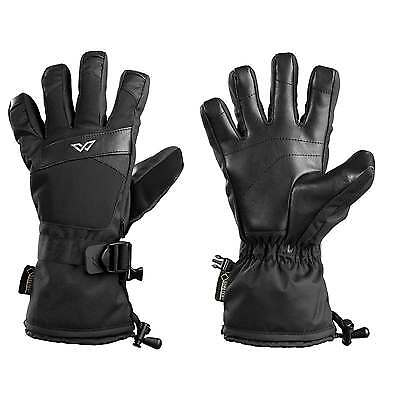 Kathmandu GORETEX Waterproof Stretch Gloves Pocket Ski Snow Leather Palm New