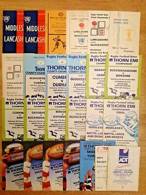 County Rugby Programmes 1952 - 1992