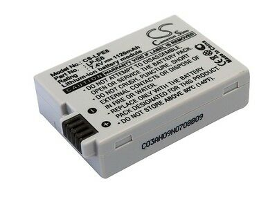 7.4V battery for Canon LP-E8, EOS Rebel T2i, EOS 550D, EOS Kiss X4, EF-S, EOS 60