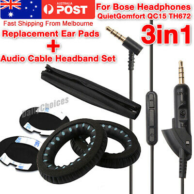 Replacement Ear Pads WIRE Audio Cable Headband for BOSE QuietComfort QC15 TH672