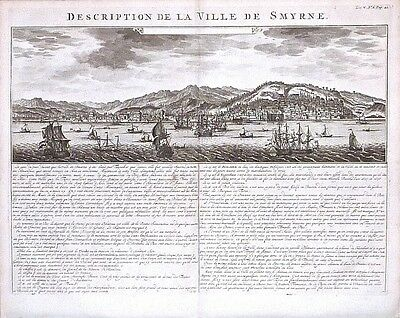Antique map, Description de la ville Smyrne