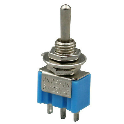 10Pcs Blue MTS-103 3-Pin 6MM Mini SPDT ON-OFF-ON 6A 125VAC Toggle Switches