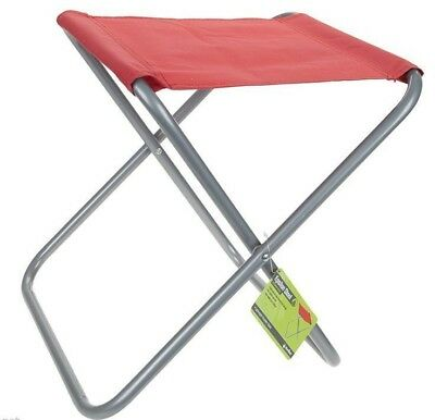Summit Folding Fold Chair Outdor Stool Seat Fishing Camping Blue or Red