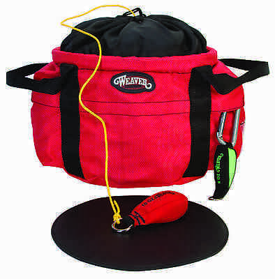 Weaver Leather Arborist Throw Line Bucket Bag with Separators - Red
