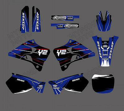 Team Graphics Backgrounds Decals Stickers For Yamaha Yz125 Yz250 1999 2000 01