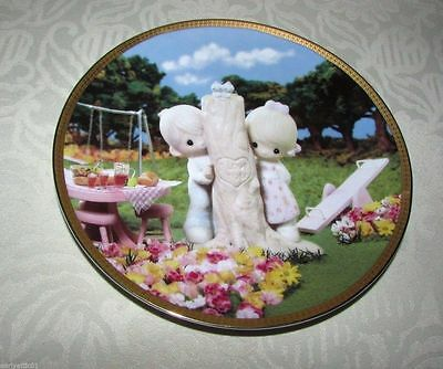 """Sharing Life's Precious Moments Plate Collection. """"Thee I Love"""". #0271B"""