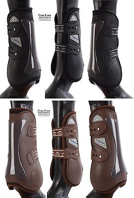 Veredus OLYMPIC Olympus Pro TENDON & FETLOCK Showjumping Boots Black/Brown S/M/L