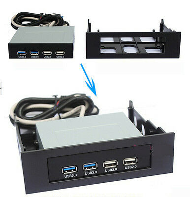 """5.25"""" to 3.5"""" Drive Bay Computer Case Adapter Mounting Bracket USB Hub Floppy"""