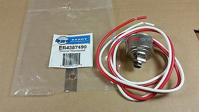 NEW Replacement 4387490 Refrigerator Defrost Thermostat Bimetal Whirpool