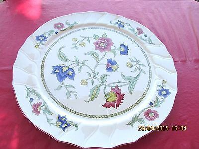 "VILLEROY & BOCH PERSIA round CHOP PLATE 13 1/8"" FLORAL SCALLOPED EDGE porcelain"