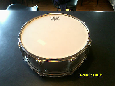 """Vintage '80s  Premier Olympic MADE IN  ENGLAND 14""""  Chrome Snare Drum"""