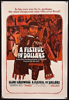 A FISTFUL OF DOLLARS U.S. 1 sheet L/B Sergio Leone Clint Eastwood filmartgallery