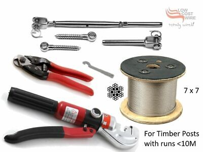 Balustrade Kits 316 Stainless Steel 7x7 200M Wire Rope Hydraulic Swage Cutter TT