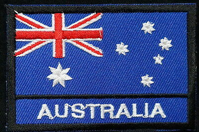 "AUSTRALIA FLAG EMBLEM PATCH SEW ON EASY TO USE 2""x3"""