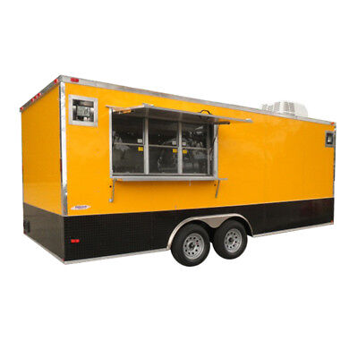 Concession Trailer 8.5'x20' Yellow - Concession Vending Food Event