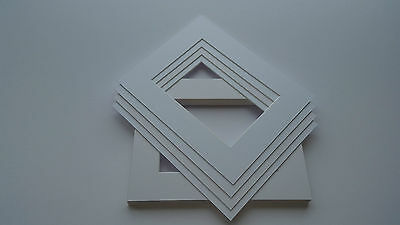 Bright White picture and photo frame mounts. Ideal sizes & pack quantity