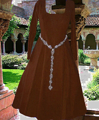 CHOICE COLOR COTEHARDIE Kirtle Linen Bld Medieval Gown SCA