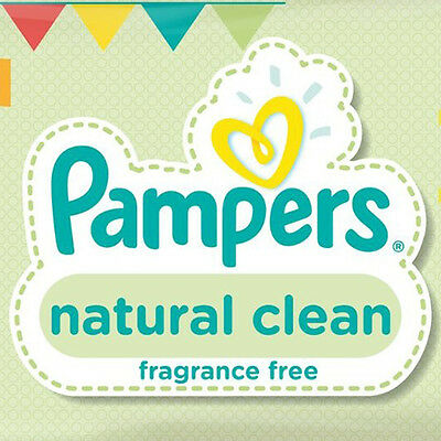 12 x 64 Pampers Natural Clean Baby Wipes Fragrance Free Unscented Clean Wipes