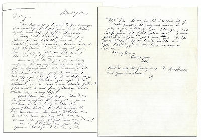 Dwight Eisenhower Autograph Love Letter Signed to Mamie