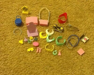 Vintage Lot Of 28 Barbie Doll Accessories Earrings Purses Necklaces And More
