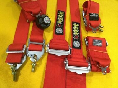 FIA CAMS approved HANS OK RACING HARNESS red 6 point 3 inch valid 2026 Monza