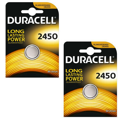 Duracell CR2450 Battery Lithium 3v Button Coin DL2450 ECR2450 Batteries 2450