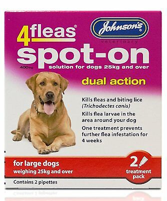 Johnsons 4fleas spot on dual action large Dog - Posted Today if Paid Before 1pm