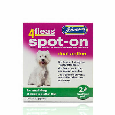 Johnsons 4fleas spot on dual action small dogs - Posted Today if Paid Before 1pm