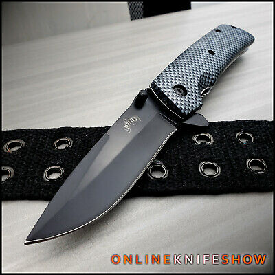 "8"" SPRING FOLDING KNIFE Tactical Open Assist Carbon Fiber Pocket Assisted Blade"