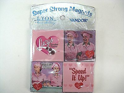 I Love Lucy Set of 4 Tile Magnets