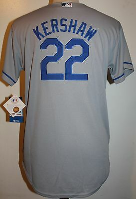 Los Angeles Dodgers Clayton Kershaw #22 Cool Base YOUTH (Sz 8-20) Jersey - Gray