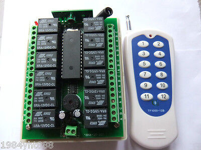 12v 10A relay 12Ch wireless Programable RF Remote Control Transmitter + Receiver