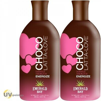 2 x EMERALD BAY CHOCO LATTA LOVE (2x250ml) Solarium Kosmetik Sonnen Lotion Creme