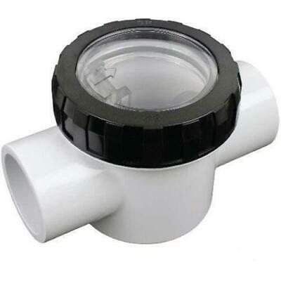PVC Check Valve 40mm Spa Quip - Pool Pipe Plumbing Spring Loaded Clear Lid