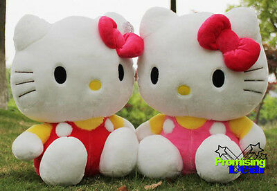"""27"""" Giant Hello Kitty Huge Soft Stuffed Gift Doll Cute Plush Pink/red"""